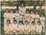 Leão Teixeira e sua primeira turma de alunos na primeira Gracie Barra na Olegário Maciel